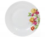 """Набор 6 фарфоровых десертных тарелок """"Огненные ирисы"""" Ø19см"""