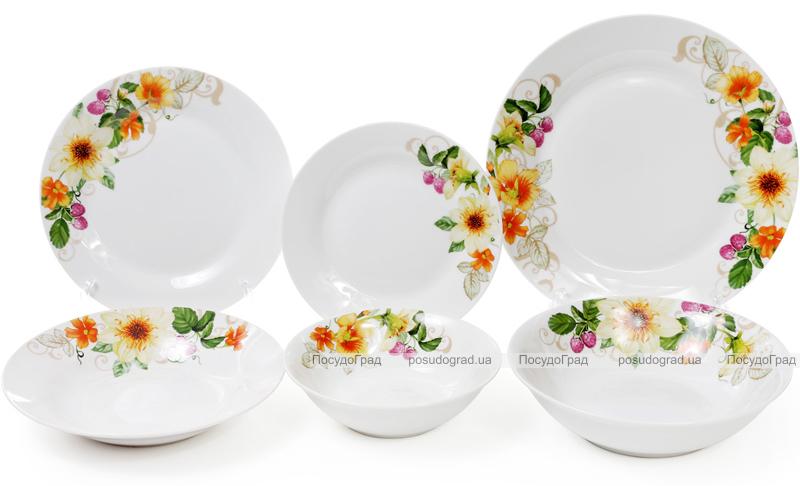 """Набор 6 фарфоровых суповых тарелок """"Летняя фантазия"""" Ø23см"""
