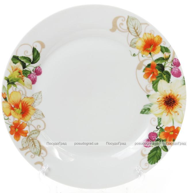 """Набор 6 фарфоровых обеденных тарелок """"Летняя фантазия"""" Ø27см"""