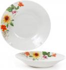"""Набір 6 порцелянових супових тарілок """"Літня фантазія"""" Ø23см"""