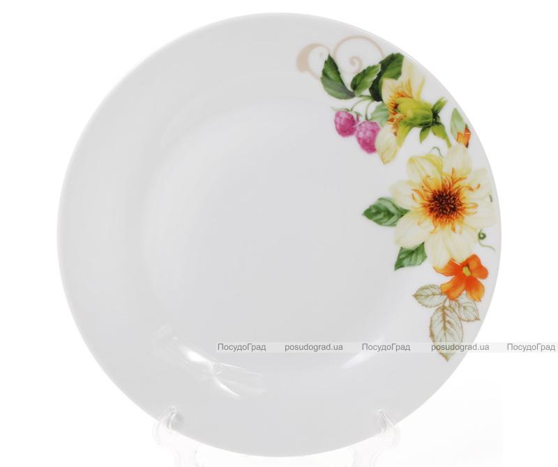"""Набір 6 порцелянових десертних тарілок """"Літня фантазія"""" Ø19см"""