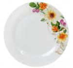 """Набор 6 фарфоровых обеденных тарелок """"Летняя фантазия"""" Ø23см"""