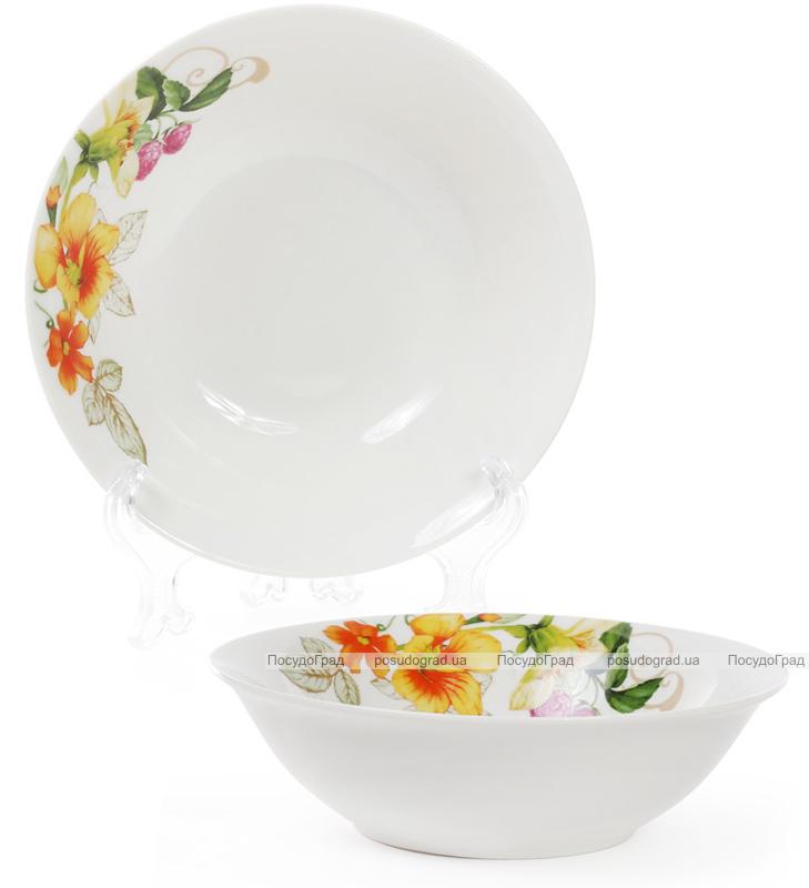 """Набір 6 порцелянових салатниць """"Літня фантазія"""" 650мл Ø17см"""