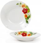 """Набор 6 фарфоровых суповых тарелок """"Настурция"""" Ø23см"""