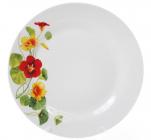 """Набор 6 фарфоровых обеденных тарелок """"Настурция"""" Ø23см"""