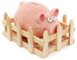 """Статуэтка-копилка """"Веселая Свинка"""" с оградой 20.5х16х12см, керамическая"""