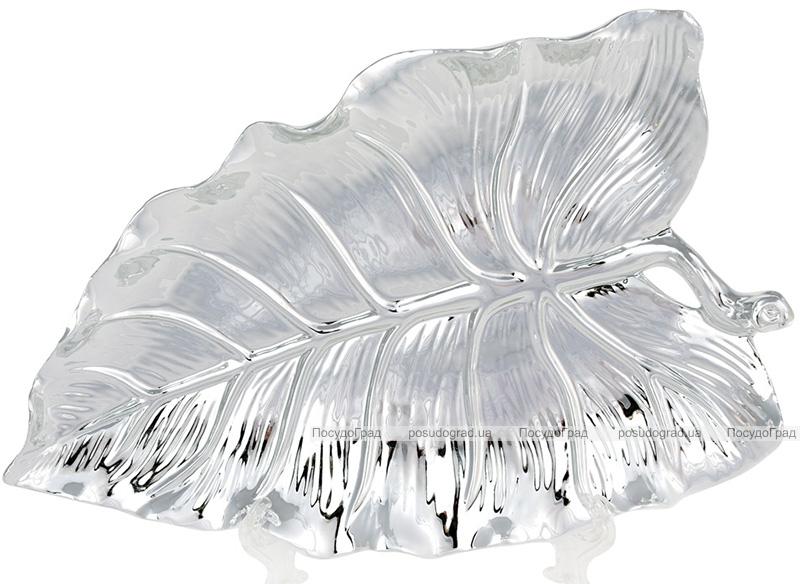 """Набір 2 декоративних блюда """"Срібний Лист"""" 26.3х16.5х3.5см, кераміка"""