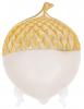 """Набір 2 декоративних блюда """"Жолудь"""" 15.4х11.5х5см кераміка, білий з золотом"""