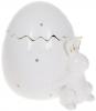 """Банка для продуктов """"Кролик с яйцом"""" 860мл керамика, белая"""