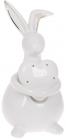 "Фигура декоративная ""Кролик с Сердцем"" 19.7х16.6х31.5см керамика, белый"