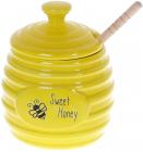 Медовница «Sweet Honey» Пчелки 450мл керамика с деревянной ложкой-булавой