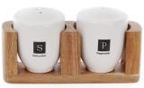 Набор для специй Naturel соль/перец на деревянной подставке (акация)