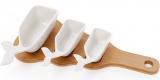 Набір 3 соусники Ceram-Bamboo 50/75/150мл на дерев'яній дошці 32х15см