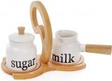 Сервировочный набор Ceram-Bamboo сахарница 225мл и молочник 250мл