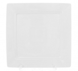 "Набор 6 квадратных тарелок ""White City"" 20х20см, обеденные (белый фарфор)"