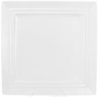 "Набор 4 квадратные тарелки ""White City"" 30х30см, подставные (белый фарфор)"