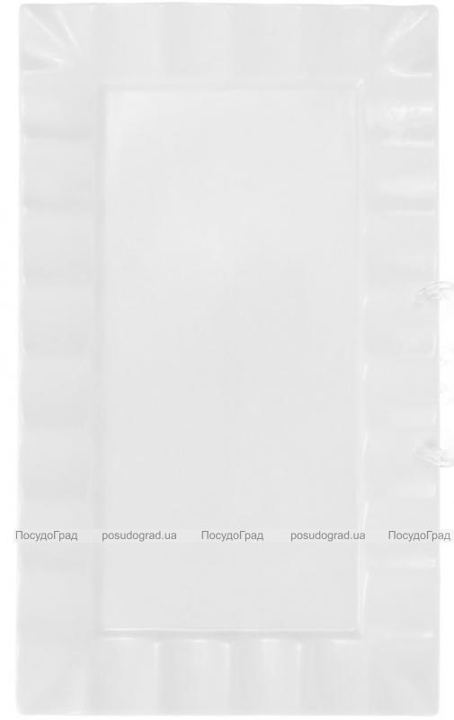 """Набор 2 прямоугольные тарелки """"White City"""" 36х21см для суши (белый фарфор)"""