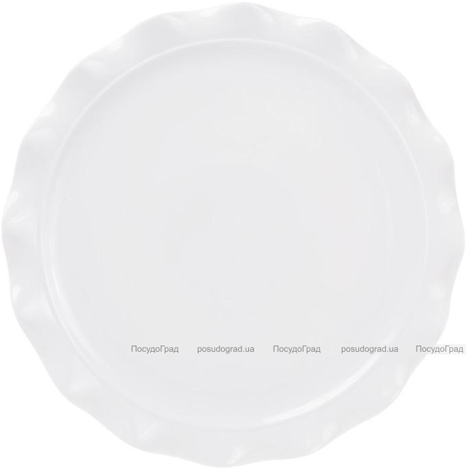 """Блюдо """"White City"""" для пиццы Ø36см (белый фарфор)"""