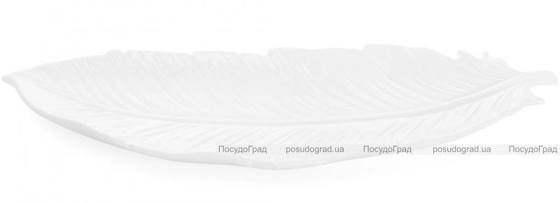 """Набор 2 сервировочных блюда """"White City Перо"""" 40см (белый фарфор)"""