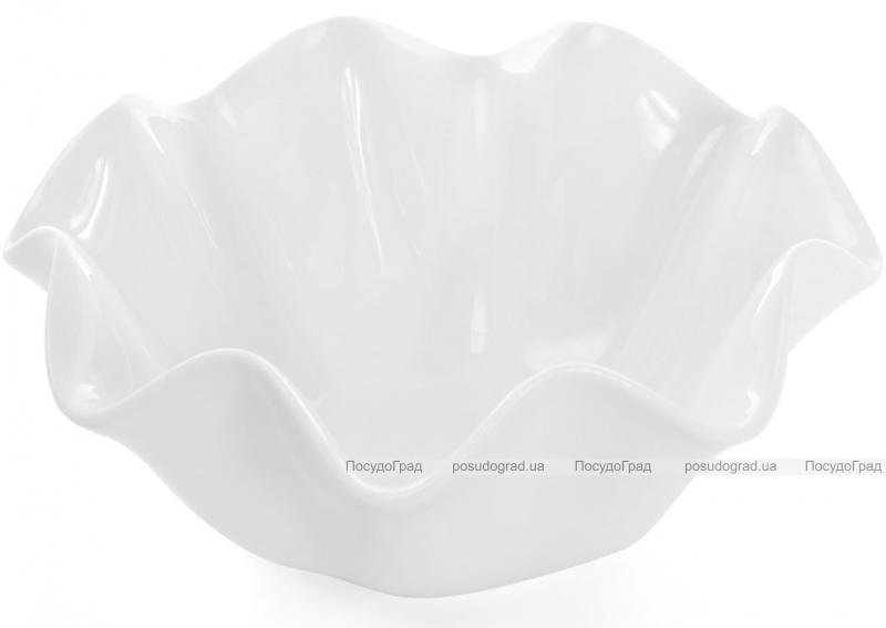 "Набор 3 фарфоровых салатника ""White City Волна"" 900мл (белый фарфор)"