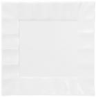"Набор 4 фарфоровые тарелки ""White City Волна"" 28х28см (белый фарфор)"