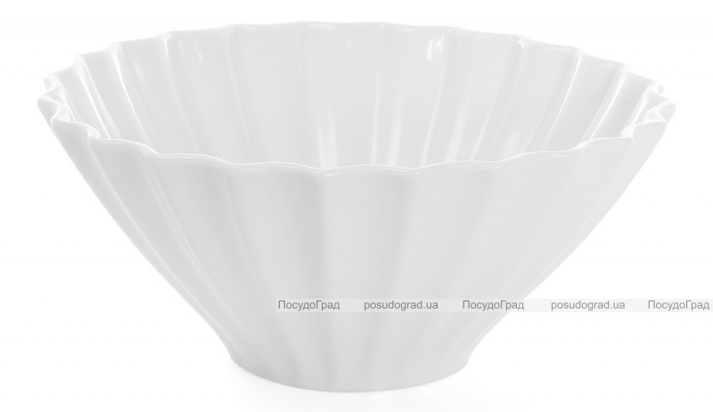 """Набор 6 фарфоровых салатников """"White City Волна"""" 700мл (белый фарфор)"""