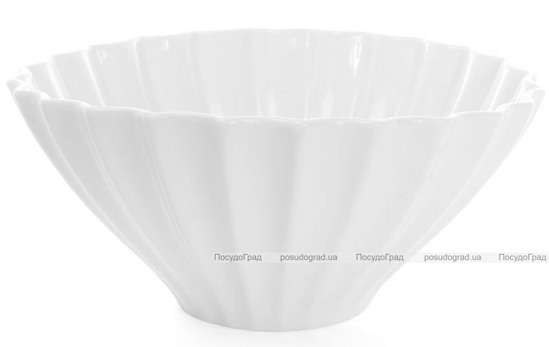 "Набор 4 фарфоровых салатника ""White City Волна"" 1600мл (белый фарфор)"