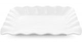 "Набор 2 фарфоровых блюда ""White City Волна"" 29х24см (белый фарфор)"