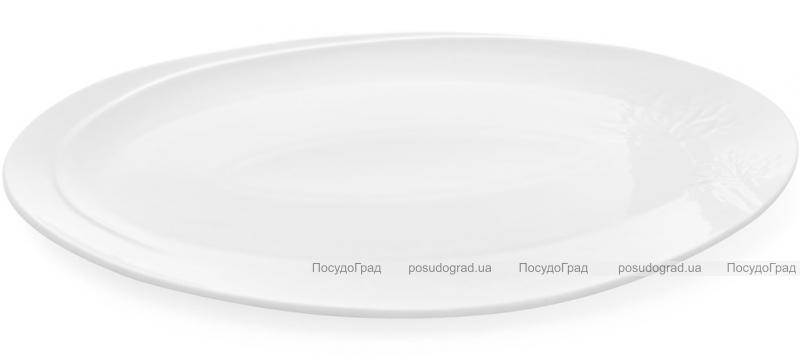 """Набор 4 фарфоровых блюда """"White City Дерево"""" овальные 30х18см (белый фарфор)"""
