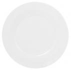 "Набор 6 фарфоровых обеденных тарелок ""White City"" Ø25см (белый фарфор)"