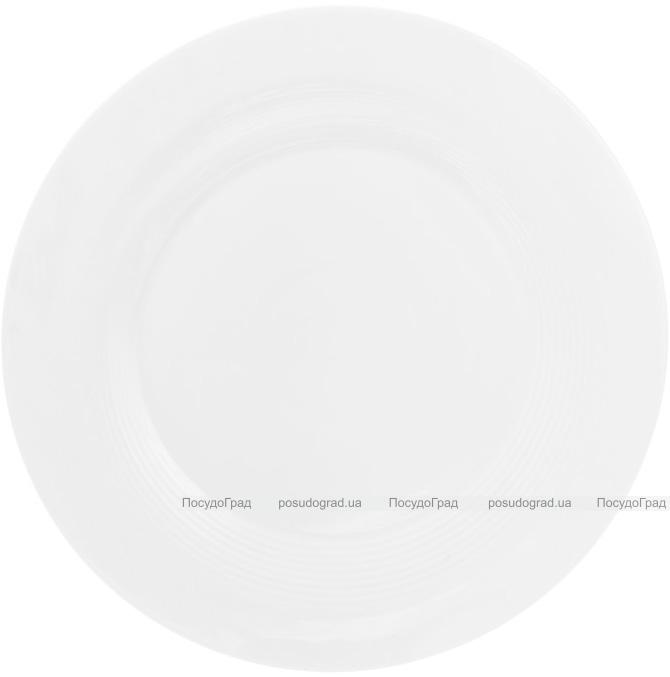 """Набор 4 фарфоровые подставные тарелки """"White City"""" Ø30см (белый фарфор)"""