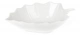 """Набір 8 порцелянових салатників """"White City Лист"""" 450мл, біла порцеляна"""