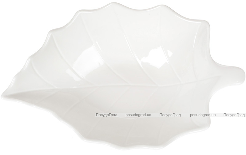 "Набор 4 фарфоровых салатника ""White City Лист"" 1200мл, белый фарфор"