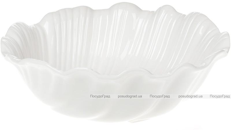 """Набор 6 фарфоровых салатников """"White City Перо"""" 1300мл, белый фарфор"""
