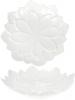 "Набор 4 фарфоровых блюда ""White City Астра"" Ø30.5см, белый фарфор"