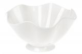 "Набор 6 фарфоровых салатников ""White City Волан"" 700мл Ø18см, белый фарфор"