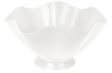 """Набір 5 порцелянових салатників """"White City Хвиля"""" 900мл Ø20см, білий фарфор"""