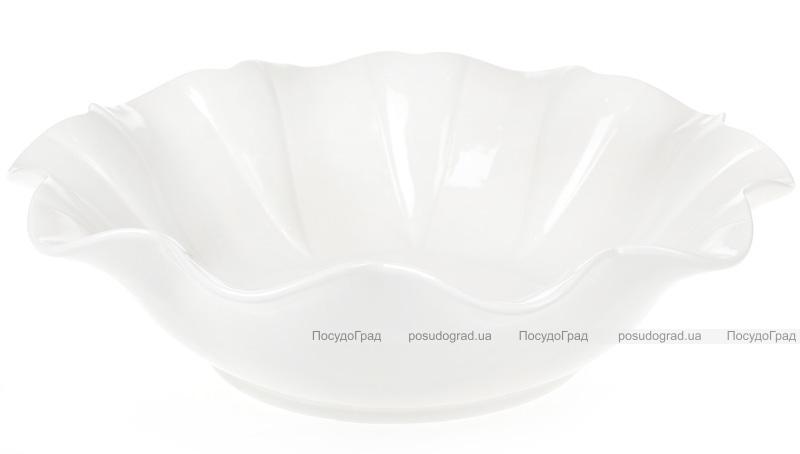 """Набор 5 фарфоровых салатников """"White City Волна"""" 1700мл Ø30.5см, белый фарфор"""