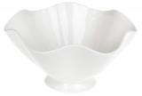 """Набір 5 порцелянових салатників """"White City Хвиля"""" 1.4л Ø23см, білий фарфор"""