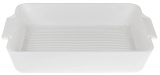 Форма для выпечки Ainsley фарфоровая 30.5х19.5х6см с ручками (белая)