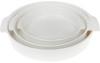 Форма для выпечки Ainsley фарфоровая круглая 20.9х18.8х4см с ручками (белая)