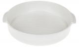 Форма для випічки Ainsley порцелянова кругла 20.9х18.8х4см з ручками (біла)