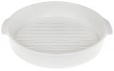 Форма для выпечки Ainsley фарфоровая круглая 25.7х23.5х5см с ручками (белая)