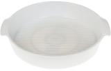 Форма для выпечки Ainsley фарфоровая круглая 30.7х27.2х5.8см с ручками (белая)