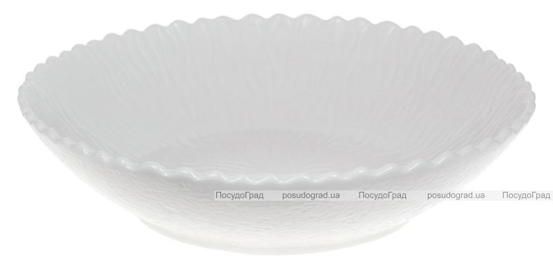 "Набор 2 фарфоровых салатника ""White City Линии"" Ø26.5см, белый фарфор"