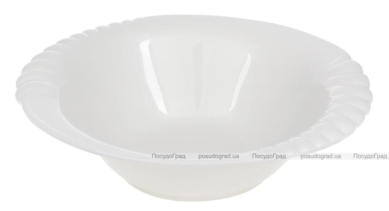 "Набір 5 порцелянових салатників ""White City Торжество"" Ø28см, біла порцеляна"
