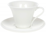 """Чайно-кавовий набір """"White City Мінімал"""" 4 чашки 260мл і 4 блюдця"""