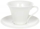 """Чайно-кофейный набор """"White City Минимал"""" 4 чашки 260мл и 4 блюдца"""