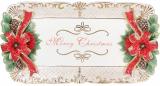 Блюдо «Merry Christmas» 50.5х27см, керамика с объемным рисунком