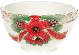 Салатник «Merry Christmas» 600мл, кераміка з об'ємним малюнком